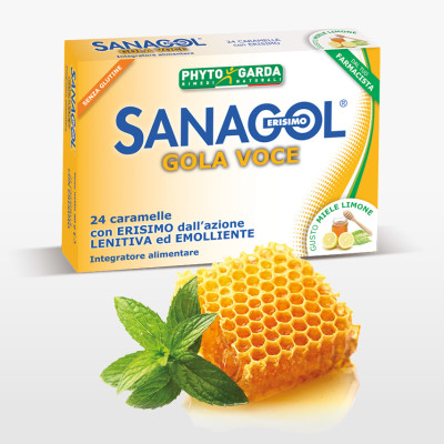 Sanagol Gola Voce Miele Limone