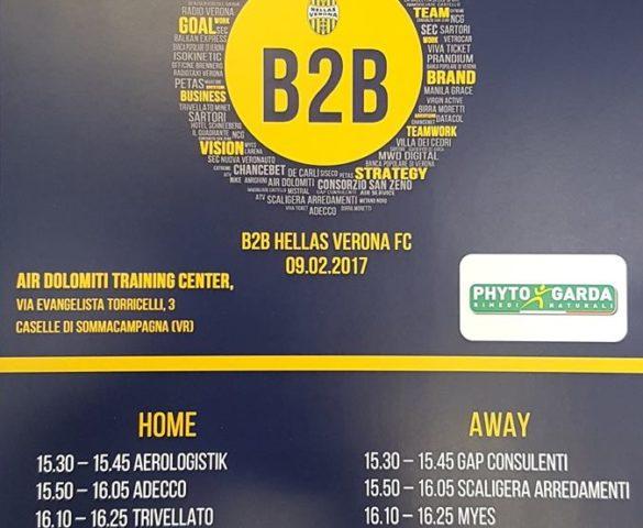 Phyto Garda all'incontro B2B Hellas Verona FC