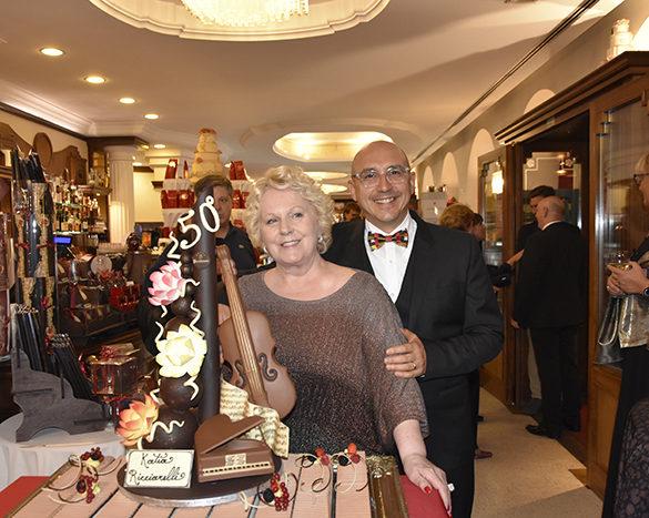 Katia Ricciarelli e Alessandro Moglia (fondatore di Phyto Garda)