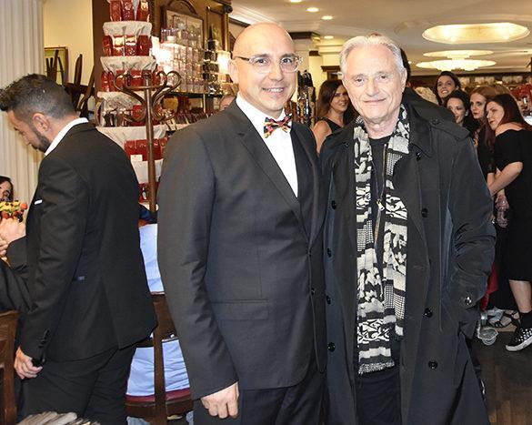 Alessandro Moglia (fondatore di Phyto Garda) e Amedeo Minghi